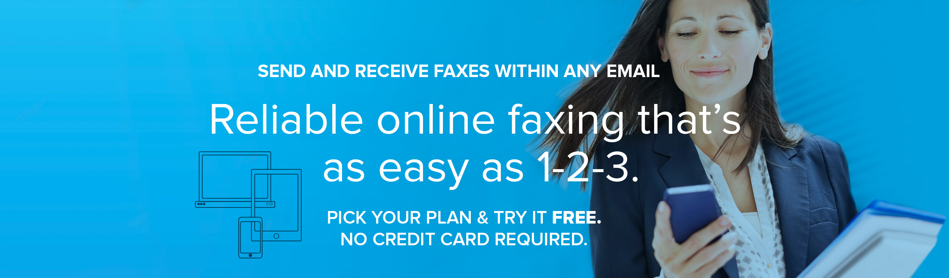 Reliable online faxing that's as easy as 1-2-3.